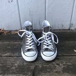 Gray High Top Converse Ws 10 Almost new